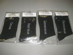 Wedding Bridal Party Gift Black Tuxedo Dress Socks Best Man Groom Groomsmen