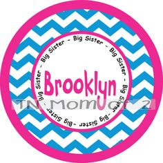 big sister big sis little middle sister monogram iron by tnmomof2, $7.00