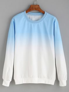 Sweatshirt im Farbverlauf - blau
