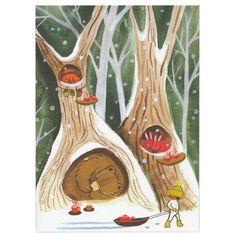 Little Otsu — Winter Card by Ayumi Piland