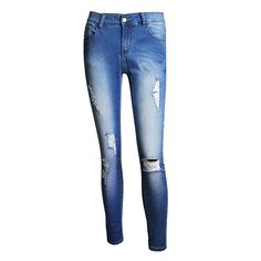 22.99$  Buy now - http://alid46.shopchina.info/go.php?t=32804707810 - Women High Waist Ripped Jeans for Women Stretch Slim Pencil Pants 2017 Spring Summer Women Casual Jeans Free Shipping 22.99$ #SHOPPING