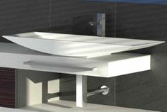 The Slice Silk Basin from Hastings. You can see more sinks by Hastings at ibathtile.com.
