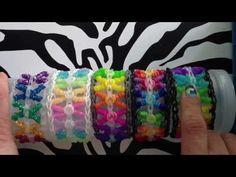 Curly Kisses Bracelet On Rainbow Loom - YouTube