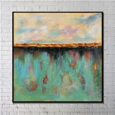 Contemporary Wall Art Reflection Abstract Wall Print with Black Frame 40