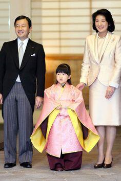 Crown Prince Naruhito of Japan, 2006 Crown Prince Naruhito and Crown Princess Masako visit the Imperial Palace with their five-year-old daughter, Princess Aiko
