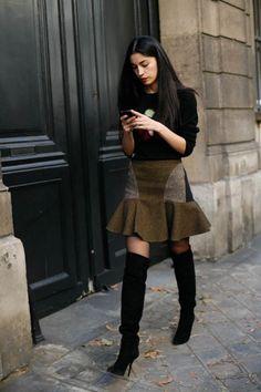 Mixed Patterns Skirt.