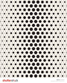 Vector seamless pattern. Modern stylish texture. Repeating geometric tiles with linear triangles and circles in nodes