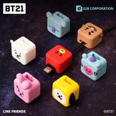 BTS Official Cubies Cable Protection Accessory – k-cutiestar Bts Bracelet, Bts Makeup, Kpop Diy, Bts Group Photos, Cute Keychain, Airpod Case, Kpop Merch, Line Friends, Bts Chibi