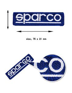 Sparco helmet seat go karting racing sponsor logo sticker #decal #badge #patch #7,  View more on the LINK: 	http://www.zeppy.io/product/gb/2/172109128132/