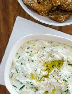 Easy Appetizer Recipe: Baked Ricotta with Lemon, Garlic & Chives Recipes from The Kitchn | The Kitchn