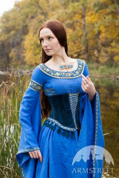 """Medieval style suede bodice corset belt """"Lady of the Lake"""""""