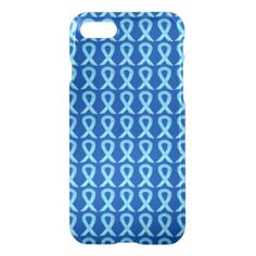 Blue Awareness Ribbon Art Custom iPhone 7 Case