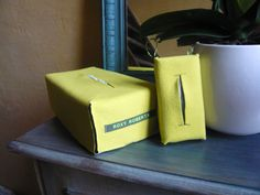 Tissuebox & mini, yellow fleece - ROXY ROBERTA