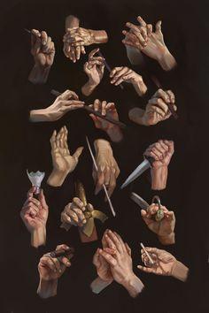 Hands study by Alexander Kozachenko. IG: alex_kozachenko_art - Hands study by Alexander Kozachenko. IG: alex_kozachenko_art Hands study by Alexander Kozachenko. Anatomy Sketches, Anatomy Drawing, Anatomy Art, Wave Drawing, Figure Drawing, Drawing Tips, Hand Drawing Reference, Art Reference Poses, Desenho New School