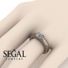 Flower Engagement Ring by Segal Jewelry Unique Diamond Engagement Rings, Classic Engagement Rings, Perfect Engagement Ring, Beautiful Engagement Rings, Designer Engagement Rings, Diamond Rings, Diamond Bracelets, Halo Engagement, Bangles