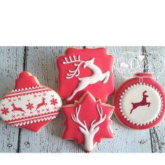 Reindeer ornament cookies