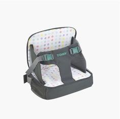 Tomy have created something here that's incredibly handy when mealtimes come around, then folds down to a lightweight changing bag, complete with mat, when it's not in use at the table.  It's essentially a booster seat that straps your child into any chair with a back, clipping them into place with big satisfying buckles. The changing mat also ingeniously acts as a cushion for the high chair, giving it an extra boost if your child is struggling to see what's going on.   It's suitable from 6…