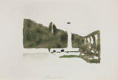 Giorgio Morandi (1890-1964), Landscape (Levico), 1957, Watercolour on paper, 210 x 310 mm, Courtesy Galleria d'Arte Maggiore G.A.M., Bologna (Italy).