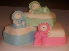 White cake with HM BC and MMF.  Made for fun but could be used for triplets..