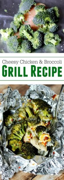 Cheesy Chicken and Broccoli Recipe on the Grill!! Healthy Dinner Recipe for the Barbeque! Easy Summer Meal Idea!