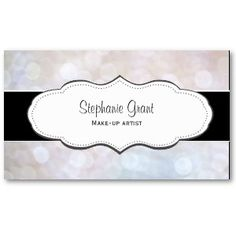 Stylish White Texture Business Cards