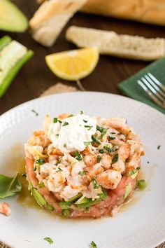Tomato-Shrimp-Avocado Salad with Burrata - Recipe