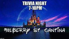 Test your Disney knowledge tonight @mulberrystreetcantina  #dentonslacker #dentontx #dentontexas #mulberrystreet #mulberrystcantina #doingitdenton #dentonite #dentoning #discoverdenton #scoutdenton #offthesquare #unt #twu