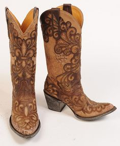 Old Gringo Linda Overlay with Leopard Design Cowgirl Boots - Pointed Toe