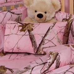 Baby Girl Pink Camo Nursery Crib Sheet and Pillowcase by Realtree #Realtree #BabyShower #GiftIdeas #Baby #Nursery #eBay