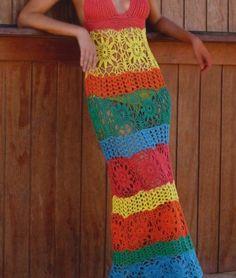 Beach dress PATTERN, crochet boho dress pattern, beach crochet.