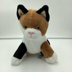 "Animal Adventure Calico Cat Plush Soft Toy 2016 8"" Stuffed Animal Brown Black #AnimalAdventure"
