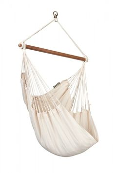 Enjoy pure relaxation in the basic hammock chair Modesta Latte, made of pure unbleached and undyed organic cotton! In addition, organic cotton is wonderfully soft to the touch, yet ea Hanging Hammock Chair, Outdoor Hammock, Hammock Stand, Swinging Chair, Hammock Bed, Indoor Swing, Outdoor Lounge, Home Living, My Living Room