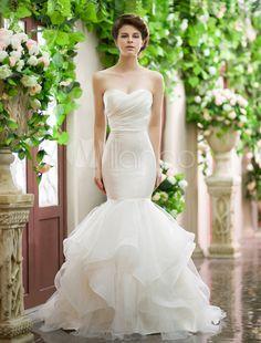 Vestido de novia corte sirena   bodatotal.com   mermaid wedding dress, novias…