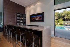 Wallace ridge interior comfortable wallace ridge house design interior in smart kitchen bar decorated with modern minimalist furniture design ideas Home Design, Home Bar Designs, Home Interior Design, Interior Paint, Design Ideas, Table Designs, Modern Design, Home Wet Bar, Bars For Home