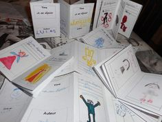 How to make playful writing production: mini books! French Teacher, Teaching French, Teaching Spanish, Teaching Reading, Teaching Kids, Montessori, Core French, French Classroom, Learn French