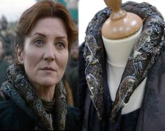 Catelyn Stark costume- Embroidery by Michele Carragher - Game of Thrones series Got Costumes, Movie Costumes, Amazing Costumes, Theatre Costumes, Costume Ideas, Arya Stark, Costumes Game Of Thrones, Game Of Thorns, Game Of Thrones Series