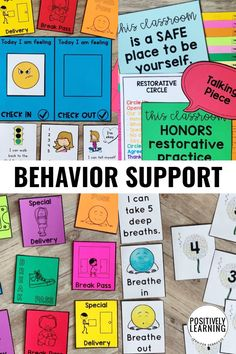 Positive behavior reinforcement for individual, small groups, and whole class. Creative solutions to provide both support and skills for our students. From Positively Learning #positivebehavior #behavior #classroommanagement