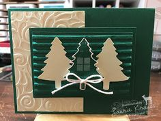 The Perfectly Plaid Bundle is a great Christmas Card making combination! Dyi Christmas Cards, Handmade Christmas, Holiday Cards, Waterfall Cards, Free Cards, Scrapbook Cards, Scrapbooking, Stampin Up Cards, Card Making
