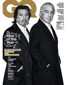 The multihyphenate was named one of the 'GQ Men Of The Year' alongside Robert de Niro, Al Pacino, and Tyler, The Creator. Al Pacino, Jennifer Lopez, Marion Cotillard, Robert Redford, Taxi Driver, Magazine Gq, Gq Magazine Covers, The Godfather Part Ii, Gangster Films