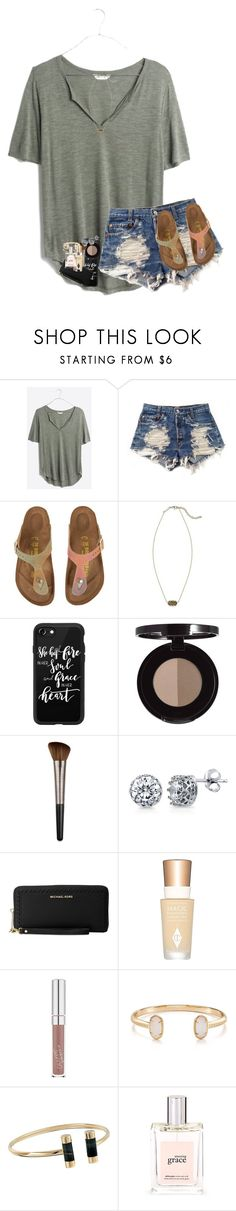 """""""gm :)"""" by hailstails ❤ liked on Polyvore featuring Madewell, Levi's, Birkenstock, Kendra Scott, Casetify, Urban Decay, BERRICLE, Michael Kors, Charlotte Tilbury and philosophy"""