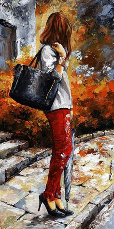 Rainy Day - After The Rain II Painting  - Emerico Imre Toth
