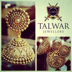 gold jhumkis with no stones