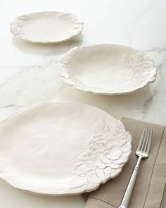 Shop Romantica Dinnerware Service at Horchow, where you'll find new lower shipping on hundreds of home furnishings and gifts. White Dinnerware, Dinnerware Sets, Design Vitrail, White Dishes, Home Decor Online, Dinner Sets, Ceramic Plates, Earthenware, Dinner Plates