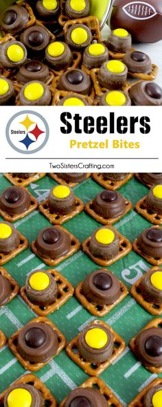 Our easy to make Pittsburgh Steelers Pretzel Bites are yummy bites of sweet and salty Football Game Day goodness. They are perfect as a little extra treat at a NFL playoff party, a Super Bowl party or as a special dessert for the Pittsburgh Steelers fan in your life. Follow us for more fun Super Bowl Food Ideas.