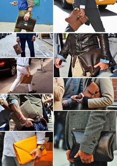 I always stare at Men with Clutch #clutch #menswear