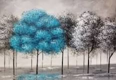 Pop of Color Black and White Trees Part 2 Beginner Acrylic Painting Easy Canvas Painting, Simple Acrylic Paintings, Acrylic Painting Tutorials, Easy Paintings, Painting Techniques, Canvas Art, Canvas Paintings, Acrylic Painting Trees, Tree Paintings