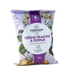 Kartoffelchips mit Crème Fraîche- und Pfeffernote
