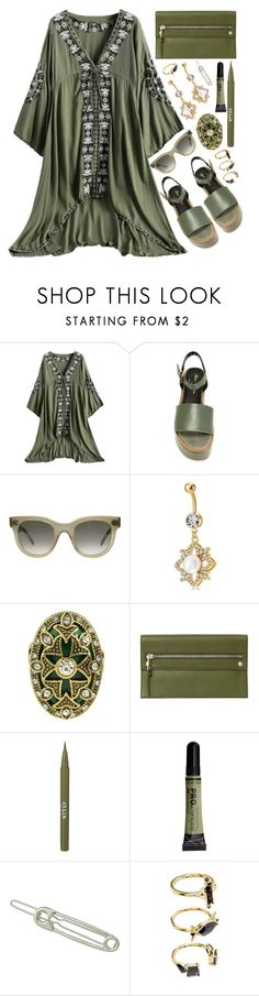 """Army Green"" by simona-altobelli ❤ liked on Polyvore featuring Robert Clergerie, CÉLINE, Fendi, Stila, Noir Jewelry and vintage"