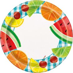 Fruit Plate, Set of Fruit Party, Summer Birthday, Sweet Birthday, Picnic Plates Summer Picnic, Summer Bbq, Summer Parties, Picnic Plates, Party Plates, Dinner Plates, Cowgirl Birthday, Mickey Birthday, Mickey Baby Showers