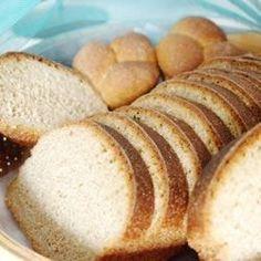 Whole wheat bread recipe for bread machine Bread Machine Wheat Bread Recipe, Bread Maker Recipes, Yeast Bread Recipes, 100 Whole Wheat Bread, Honey Wheat Bread, Dinner Rolls, Tasty, Yummy Food, Delicious Recipes
